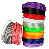 Soyan 3D Pen/Printer Filament Refills, 1.75mm 393.6ft ABS Filament, Pack of 12 Colors, 32.8ft each color, Suitable for 3D printing/drawing pen, 3D printer and more