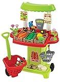 Ecoiffier 1744 - Puesto de verduras de juguete con accesorios para la compra