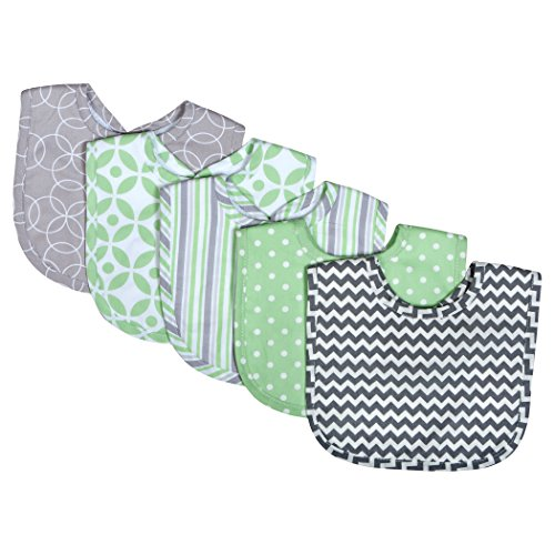 Trend Lab Lauren 5 Pack Bib Set, Lauren