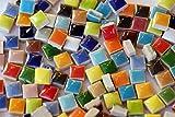 100 St. keramik Mosaiksteine 1x1cm Buntmix ca. 40 Farben frostsicher