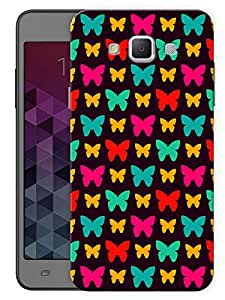 "Humor Gang Butterfly And Butterflies Pattern Printed Designer Mobile Back Cover For ""Samsung Galaxy E7"" (3D, Matte, Premium Quality Snap On Case)"