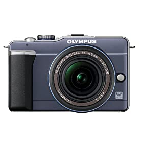 Olympus PEN E-PL1 12.3MP Live MOS Micro Four Thirds Interchangeable Lens Digital Camera with 14-42mm f/3.5-5.6 Zuiko Digital Zoom Lens (Slate Blue)