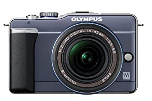 Olympus PEN E-PL1 12.3MP Live MOS Micro Four Thirds Interchangeable Lens Digital Camera with 14-42mm f/3.5-5.6 Zuiko Digital Zoom Lens (Slate Blue)