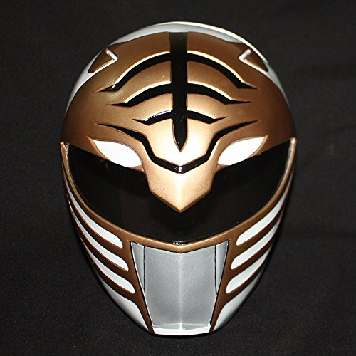 1:1 Halloween Costume Cosplay Mighty Morphin Power Ranger Helmet Mask White PR01