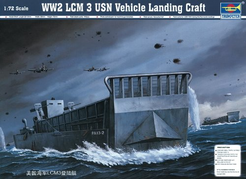 Trumpeter WW2 LCM 3 USN Vehicle Landing Craft Model Kit (Pack of 5)