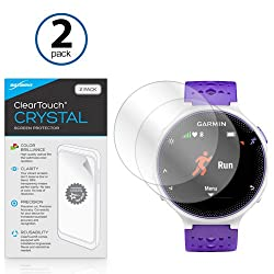 Garmin Forerunner 230 Screen Protector, BoxWave [ClearTouch Crystal (2-Pack)] HD Film Skin - Shields From Scratches for Garmin Forerunner 230