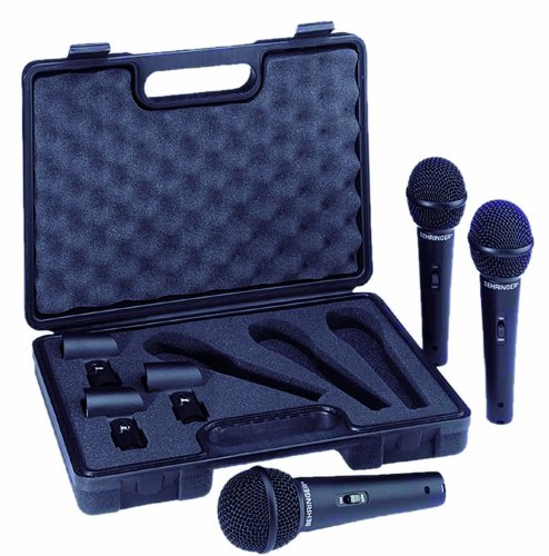 Behringer Ultravoice Xm1800S Dynamic Cardioid Vocal Microphone Three-Pack