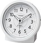 CITIZEN(リズム時計) 夜間自動点灯(数字・針)電波目覚まし エフライトR435 白色 4RL435-003