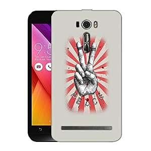 Snoogg Peace Designer Protective Back Case Cover For ASUS ZENFONE 2 LASER ZE601KL