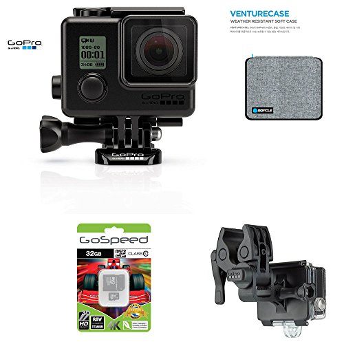 GoPro-Hero4-Hero-4-12MP-Full-HD-4K-30fps-1080p-120fps-Built-In-Wi-Fi-Waterproof-Wearable-Camera-Black-Adventure-32GB-Blackout-Edition-with-Sportsman-Mount-and-GoPole-Venturecase-Weatherproof-Softcase