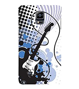Electric Switch Guitar 3D Hard Polycarbonate Designer Back Case Cover for Samsung Galaxy Note 4 N910 :: Samsung Galaxy Note 4 Duos N9100