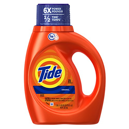 Tide Original Scent, For High Efficiency Machines, With Actilift, 25 Loads, 40-Ounce