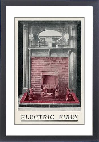 Framed Print Of Electric Fire