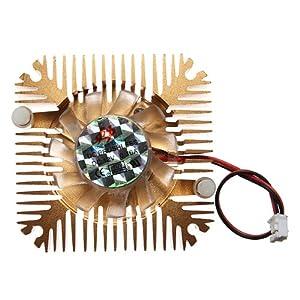 CPU Ventilateur Fan Refoidisseur Radiateur Pr Ordinateur PC 55x55x11mm 2 Pin 12V