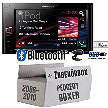 Peugeot Boxer 2 ab 2006 2 DIN - Pioneer MVH-AV280BT - 2DIN USB Bluetooth Touch - Autoradio - Einbauset