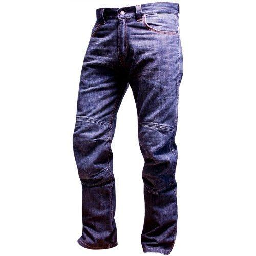 OnTour Pantalon moto Jean Kevlar Bleu 33 Taille 30 Jambe Genouillères de protection