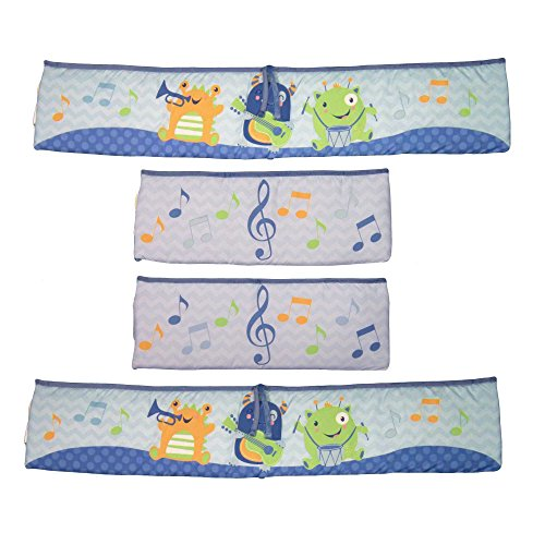 Baby's First by Nemcor Monsters Party Crib Bumper Set