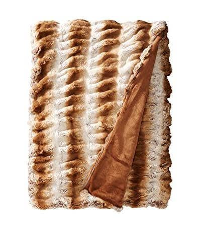 Fabulous Furs Couture Edition Faux Fur Throw, Latte Mink