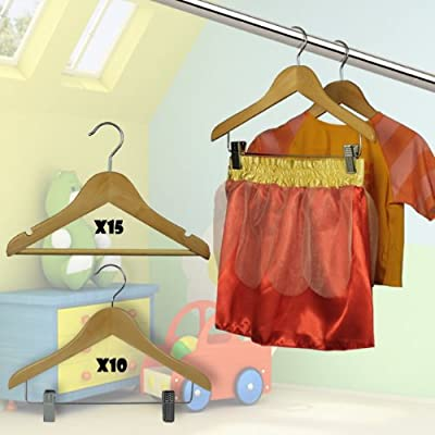 HANGERWORLD childrens wooden hangers