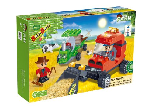 BanBao Farm Workers Toy Building Set, 130-Piece - 1