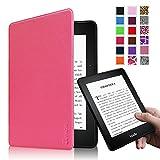 Fintie Kindle Voyage 6 インチ ケース 最も薄く、最軽量の保護 高品質PU レザー カバー マグネット機能搭載 【Kindle Voyage専用】(マゼンタ)