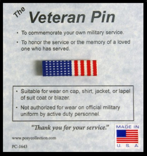 US American Flag Veteran Pin - Made in USA