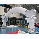 26x14ft. Commercial Inflatable Rose Flower Wedding Event Walkway Arch W/Blower
