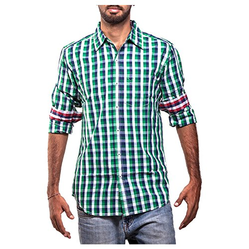 Polo Urban Polo Club Green Multicolored Shirt - Full Sleeve