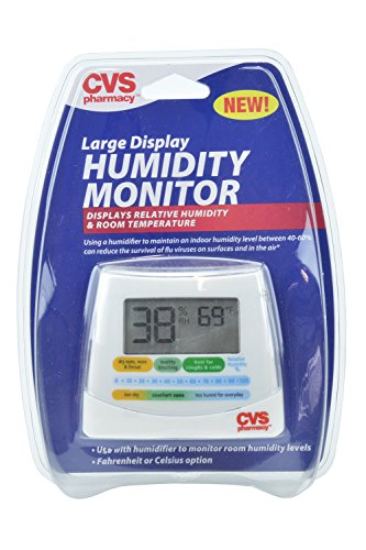 buy CVS Pharmacy Large Display Humidity Monitor, Displays Relative Humidity & Room Temperature for sale