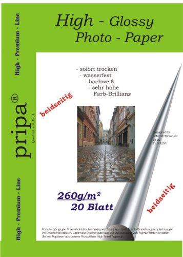 pripa-carta-fotografica-a4-260g-sqm-lucida-su-entrambi-i-lati-asciugatura-immediata-impermeabile-bri