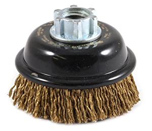 Forney 72874 3-Inch Industrial Pro Premium Cable Crimped Cup Brush with 5/8-Inch-11 and M14 by 2.0 Multi Arbor at Sears.com