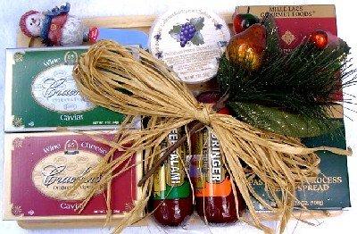 Holiday Sampler, Christmas Cheese & Sausage Holiday Gift