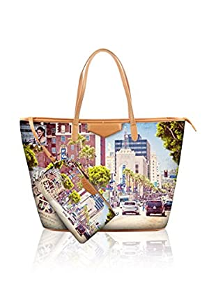 YOUBAG Bolso shopping Sophia (Marrón Claro / Lavanda)