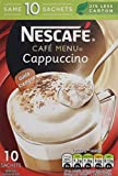 Nescafé Café Menu Cappuccino Original 10 x 18g (Pack of 6, Total 60 Sachets)