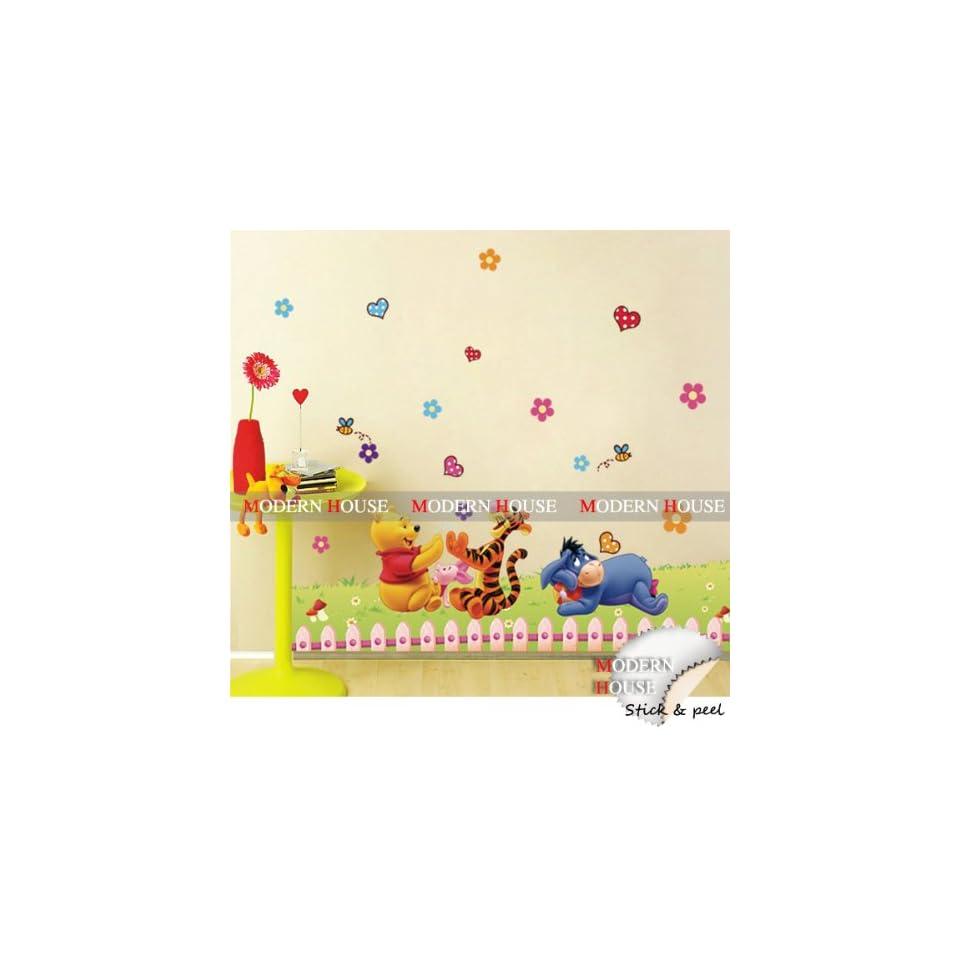 Modern House Flying Bird (Brown) removable Vinyl Mural Art Wall Sticker Decal