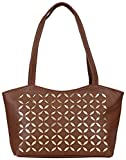 Coash Brown Cutwork Handbag