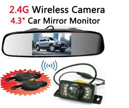 BW-Kit-camra-de-recul-sans-fil-avec-vision-nocturne-infrarouge-cran-TFT-LCD-de-43-pouces