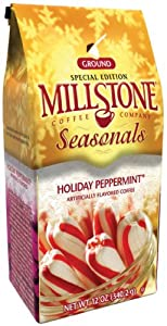 Millstone Holiday Peppermint Ground Coffee, 12-Ounce Packages (Pack of 2)