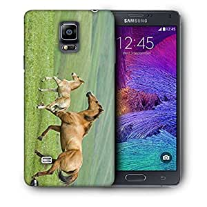 Snoogg Parental Horse Printed Protective Phone Back Case Cover For Samsung Galaxy NOTE 4 / NOTE IIII