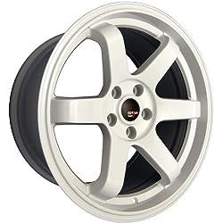Option Lab S401 18X9.5 +22 5×114.3 73.1 Glossy White Wheel