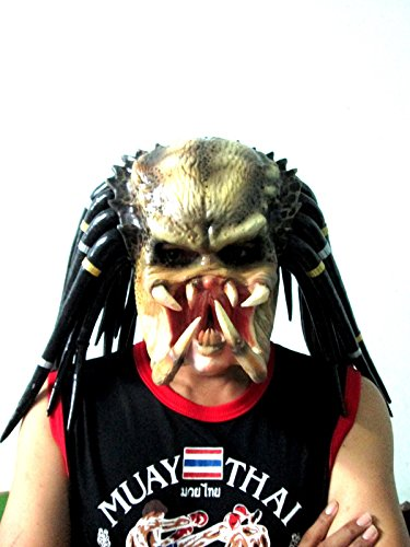 Predator Replica Mask Latex Helmet Cosplay Costume Life Size