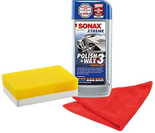 sonax-202741-xtreme-polish-wax-3-hybrid-npt-set-500ml-inkl-gratis-applikationsschwamm-und-mikrofaser