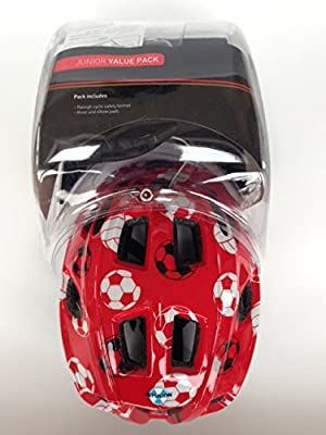 Raleigh Bike / Cycle Helmet Knee & Elbow Pad Set Boys Red Mystery 48-54cm from Raleigh