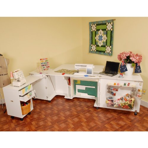 Kangaroo Kabinets Aussie Sewing Cabinet with Free Chair Color - White Ash
