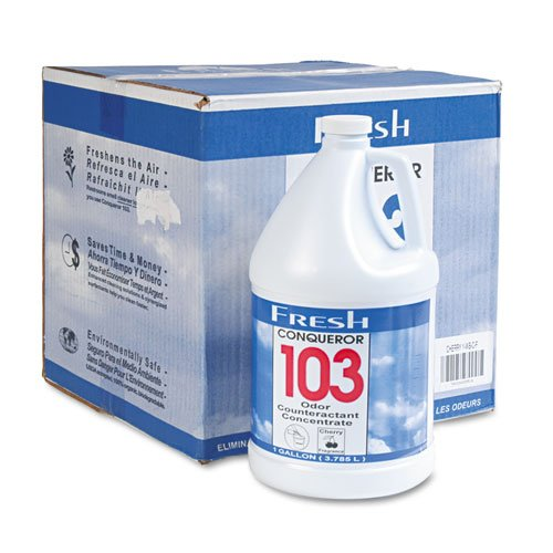 Fresh Products - Conqueror 103 Odor Counteractant Concentrate, Cherry, 1Gal Bottle, 4/Carton 1-Wb-Chct (Dmi Ct