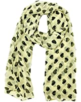Ladies Womens Colorful Long Soft and Warm Heart Print Scarf