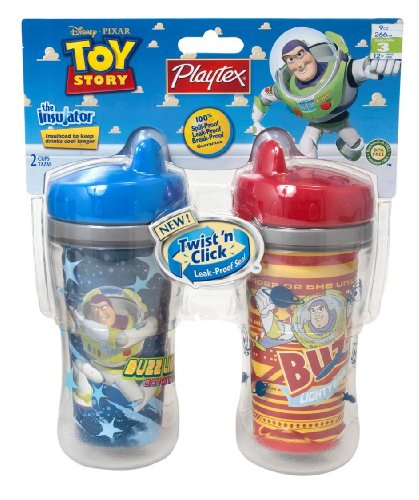 Playtex Insulator 9 oz Cup 2 Pack, Colors and Toy Story Designs Vary