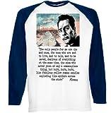 Jack Kerouac Quote 2 - Deep Navy Sleeved Baseball T-Shirt