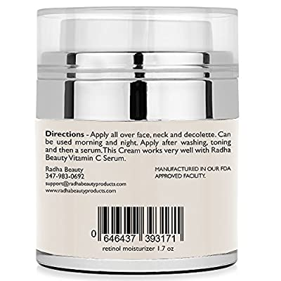 Best Cheap Deal for Radha Beauty Retinol Moisturizer Cream for Face and Eye Area 1.7 Oz - With Retinol, Hyaluronic Acid, vitamin e and Green Tea. Night and Day Moisturizing Cream by Radha Beauty Products LLC - Free 2 Day Shipping Available