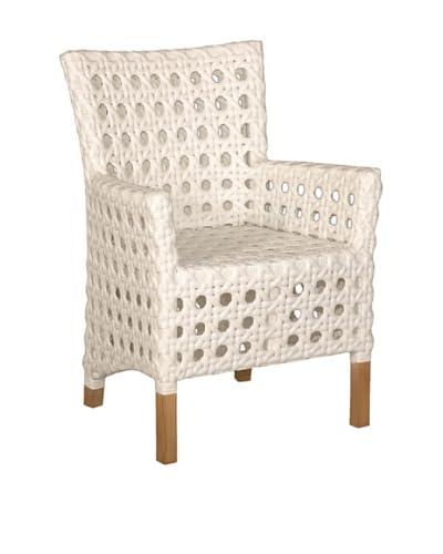 Jeffan Outdoor Derby Arm Chair, White